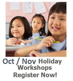 Oct / Nov Holiday Workshops